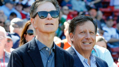 <p>               FILE - In this Sept. 27, 2015, file photo, Boston Red Sox owners John Henry, left, and Tom Werner look on before a baseball game between the Red Sox and the Baltimore Orioles in Boston. Henry and Werner intend to slash payroll to get under the luxury tax threshold next season, saying they fired Dave Dombrowski because of differing opinions on how to build for the future. The pair made their first public comments Friday, Sept. 27, 2019, since parting with Dombrowski, the president of baseball operations, on Sept. 8. (AP Photo/Michael Dwyer, File)             </p>
