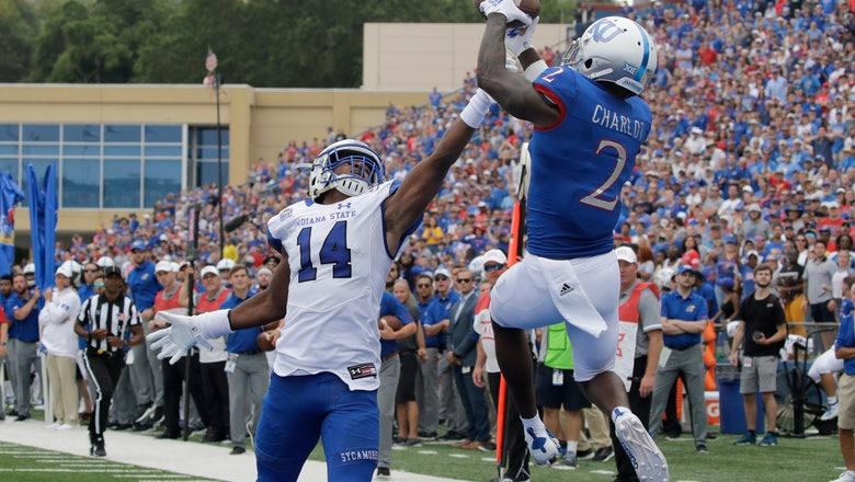 Kansas rallies to beat Indiana State 24-17 in Miles' debut