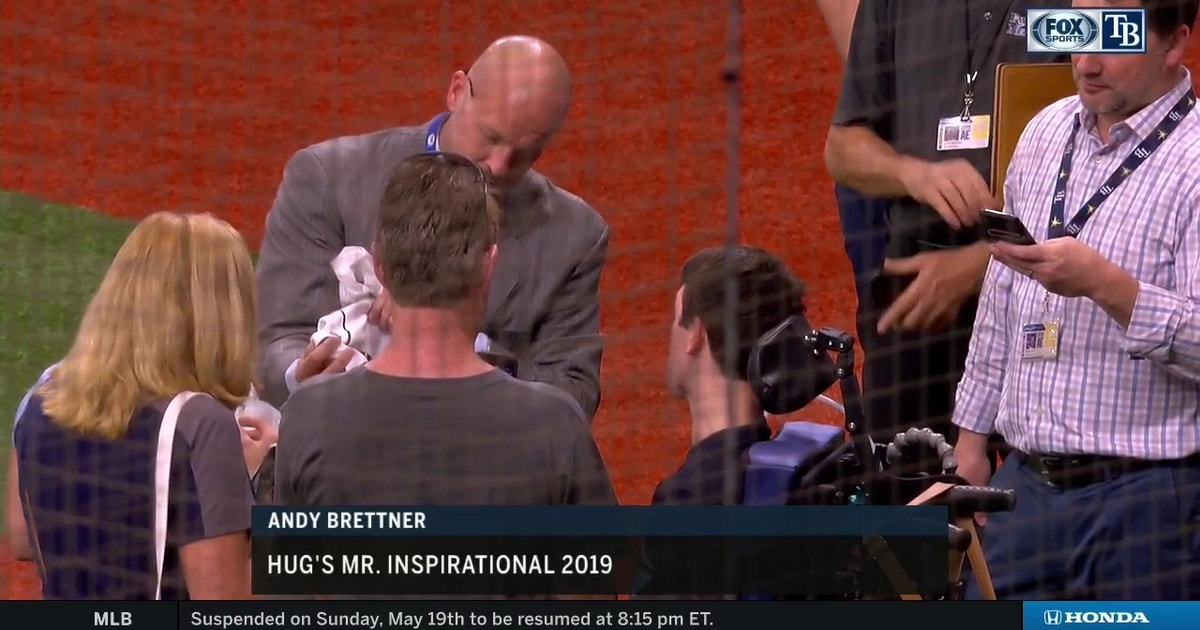 Rays Welcome Andy Brettner, Hug's Mr. Inspirational 2019