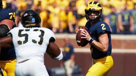FALL GUY: Shea Patterson, Michigan QB