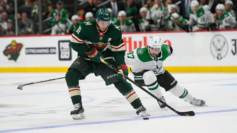 Dowling notches game-winner in overtime as Stars beat Wild 2-1