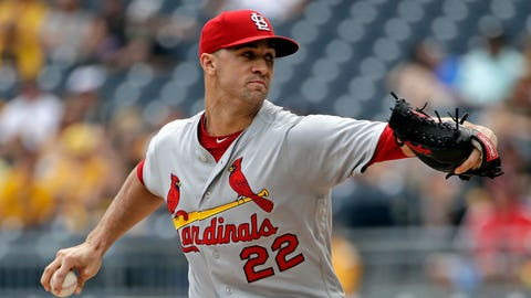 St. Louis Cardinals starting pitcher Jack Flaherty delivers during the first inning of a baseball game against the Pittsburgh Pirates in Pittsburgh, Sunday, Sept. 8, 2019. (AP Photo/Gene J. Puskar)