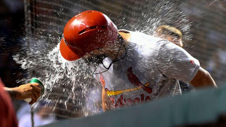 Carpenter replaces injured Wong, hits game-winning homer in 10th