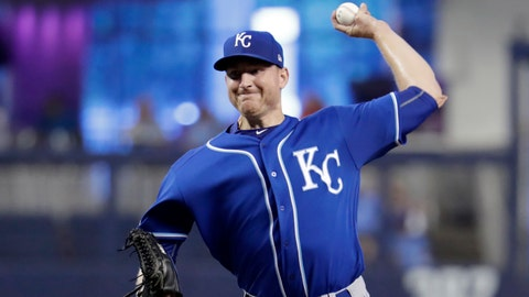 Kansas City Royals starting pitcher Mike Montgomery throws during the first inning of a baseball game against the Miami Marlins, Sunday, Sept. 8, 2019, in Miami. (AP Photo/Lynne Sladky)