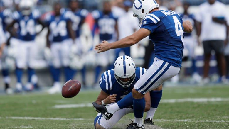 'Adam is our kicker': Colts' Reich remains confident in Vinatieri