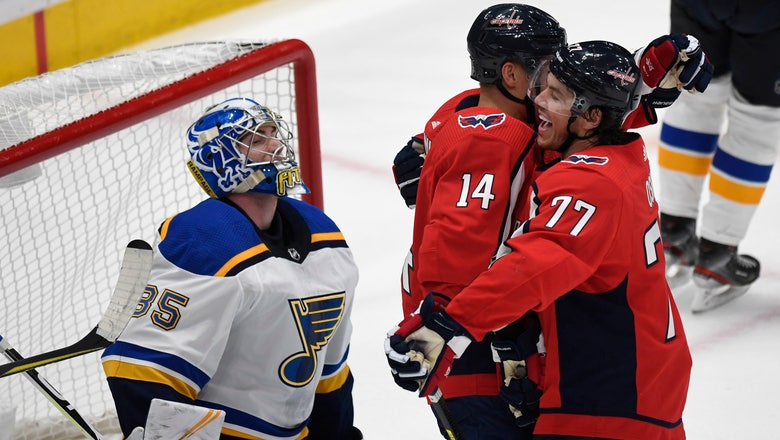 Blues cough up late lead, fall 3-2 to Capitals in preseason action