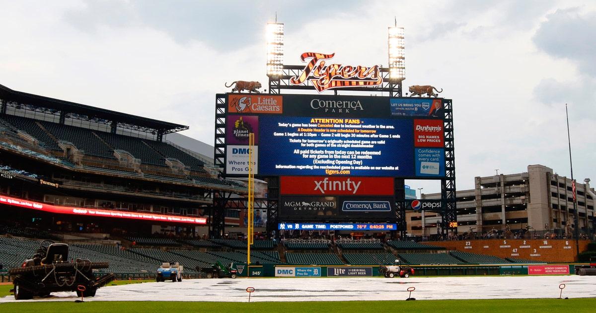 Rain postpones Tigers-Yankees