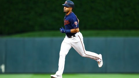 Sep 21, 2019; Minneapolis, MN, USA; Minnesota Twins center fielder LaMonte Wade Jr. (30) rounds the bases after hitting a solo home run against the Kansas City Royals in the third inning at Target Field. Mandatory Credit: David Berding-USA TODAY Sports
