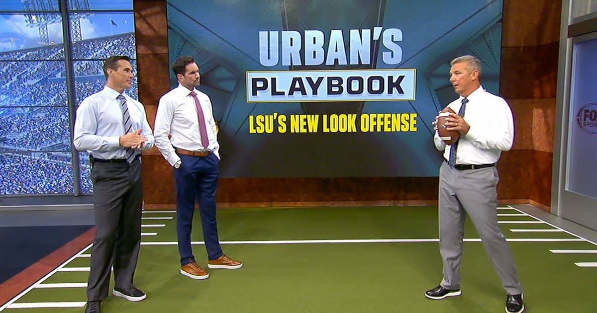 Urban Meyer breaks down LSU's passing offense & 3 types of QB reads | URBAN'S PLAYBOOK