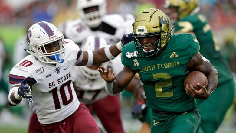 USF gets into win column with 55-16 trouncing of South Carolina State