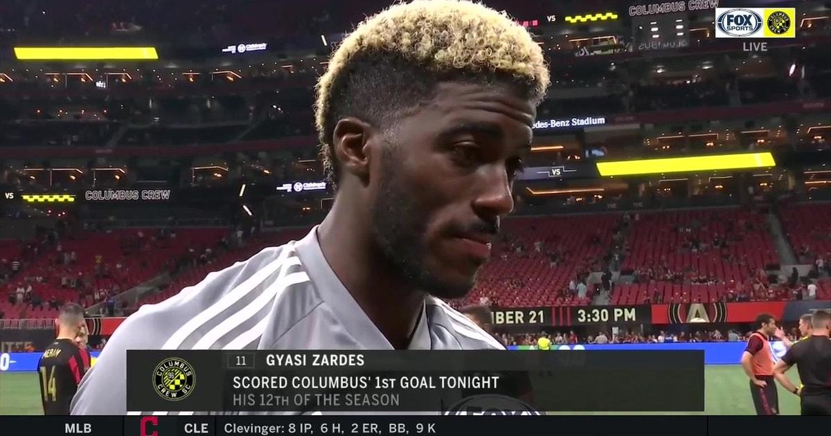 Zardes after a big win against Atlanta United