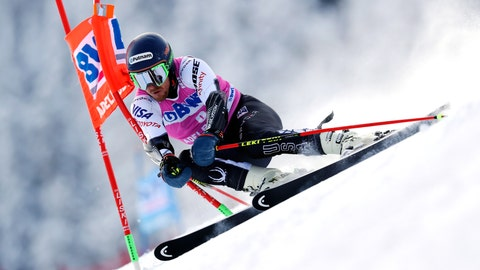<p>               FILE- In this Jan. 12, 2019, file photo, Ted Ligety, of the United States, competes during a ski World Cup men's Giant Slalom in Adelboden, Switzerland. The 35-year-old American has decided to reduce his workload this season and will only race in giant slalom.(AP Photo/Shinichiro Tanaka, File)             </p>