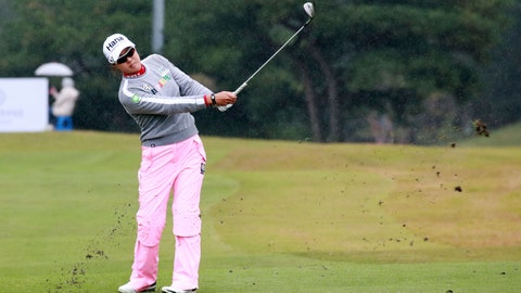 <p>               Australia's Minjee Lee watches her shot on the 9th hole during the first round of the LPGA tournament at LPGA International Busan in Busan, South Korea, Thursday, Oct. 24, 2019.(Han Jong-chan/Yonhap via AP)             </p>