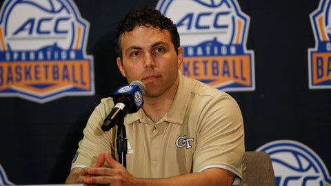 <p>               Georgia Tech basketball coach Josh Pastner answers a question during the Atlantic Coast Conference NCAA college basketball media day in Charlotte, N.C., Tuesday, Oct. 8, 2019. (AP Photo/Nell Redmond)             </p>