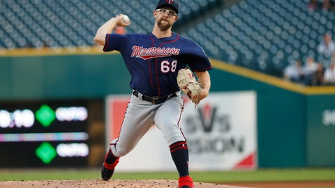 <p>               Minnesota Twins pitcher Randy Dobnak throws against the Detroit Tigers in the first inning of a baseball game in Detroit, Wednesday, Sept. 25, 2019. (AP Photo/Paul Sancya)             </p>