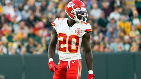 <p>               FILE - In this Aug. 29, 2019, file photo, Kansas City Chiefs' Morris Claiborne is shown during the first half of a preseason NFL football game against the Green Bay Packers, in Green Bay, Wis. The Chiefs could get a big boost in their defensive backfield this week with the return of Claiborne, who was suspended the first four games of the season for violating the NFL's substance-abuse policy. (AP Photo/Morry Gash, File)             </p>
