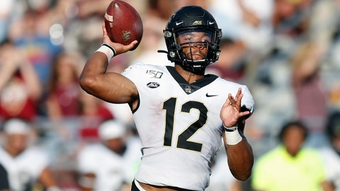 <p>               Wake Forest quarterback Jamie Newman passes during the first half of an NCAA college football game against Boston College in Boston, Saturday, Sept. 28, 2019. (AP Photo/Michael Dwyer)             </p>