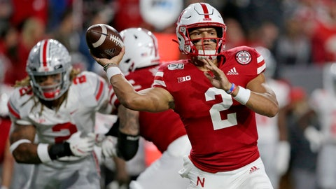 <p>               FILE - In this Sept. 28, 2019, file photo, Nebraska quarterback Adrian Martinez (2) throws a pass during the first half of an NCAA college football game against Ohio State, in Lincoln, Neb. Nebraska starts the week of its trip to unbeaten Minnesota facing uncertainty about the health of two of its top players, quarterback Adrian Martinez and receiver JD Spielman. (AP Photo/Nati Harnik, File)             </p>