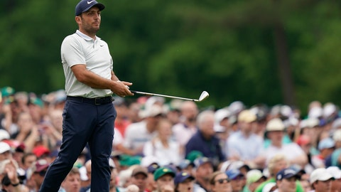 <p>               FILE - In this April 14, 2019, file photo, Francesco Molinari, of Italy, watches his shot go in the water on the 12th hole during the final round for the Masters golf tournament in Augusta, Ga. Molinari is trying to regain momentum he lost at the Masters when he had a two-shot lead on the back nine and failed to win. (AP Photo/David J. Phillip, File)             </p>