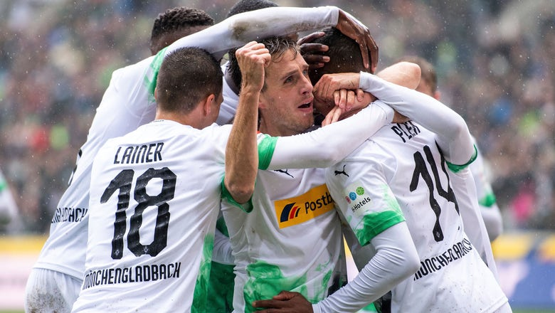 Gladbach routs Augsburg 5-1, moves top of the Bundesliga