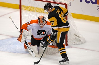 Crosby has 3 points, Penguins drill Flyers 7-1
