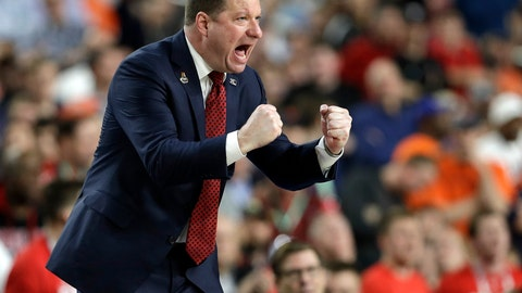 <p>               FILE - In this April 8, 2019, file photo, Texas Tech head coach Chris Beard reacts during the first half against Virginia in the championship of the Final Four NCAA college basketball tournament in Minneapolis. (AP Photo/David J. Phillip)             </p>