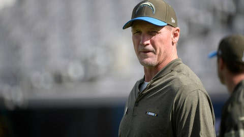 <p>               FILE - In this Nov. 12, 2017, file photo, Los Angeles Chargers offensive coordinator Ken Whisenhunt watches warmups before an NFL football game against the Jacksonville Jaguars in Jacksonville, Fla. Whisenhunt has been relieved of his duties as the Chargers offensive coordinator. The team announced the move Monday, Oct. 28, 2019, a day after they defeated the Chicago Bears. (AP Photo/Phelan M. Ebenhack, File)             </p>