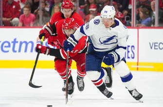 Lightning offense goes ice cold after ferocious 1st in OT loss to Hurricanes