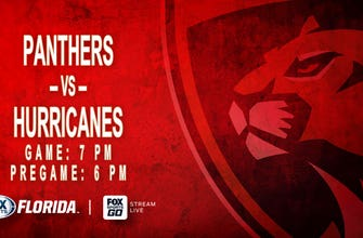 Preview: Panthers wrap up quick homestand by trying to hand Hurricanes their 1st loss