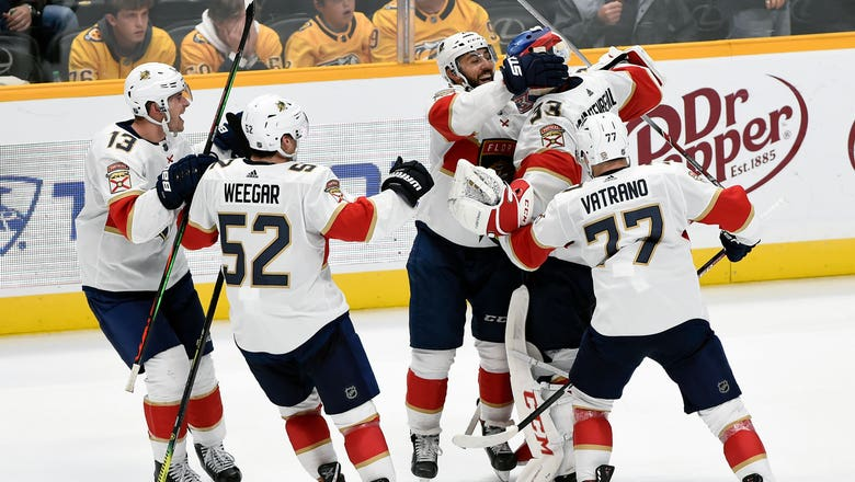 Panthers step up for shootout win over Preds after Aleksander Barkov exits game