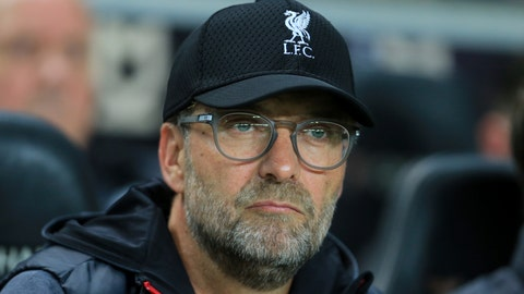 <p>               Liverpool's manager Jurgen Klopp watches before the League Cup soccer match between Milton Keynes Dons and Liverpool at the MK Dons Stadium, Milton Keynes England, in London, England, Wednesday, Sept. 25, 2019. (AP Photo/Leila Coker)             </p>