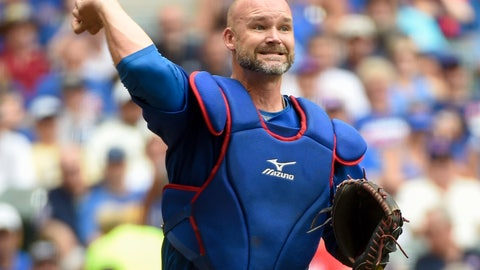 <p>               FILE - In this July 24, 2016, file photo, Chicago Cubs' David Ross throws out a Milwaukee Brewers batter during a baseball game in Milwaukee. Former Cubs catchers Joe Girardi and Ross will speak with the team next week about its managerial opening. The team also plans to interview first base coach Will Venable next week. Bench coach Mark Loretta interviewed for the job Thursday. The Cubs are searching for a successor to Joe Maddon, whose contract expired after the Cubs missed the playoffs this year for the first time since 2014. (AP Photo/Benny Sieu, File)             </p>