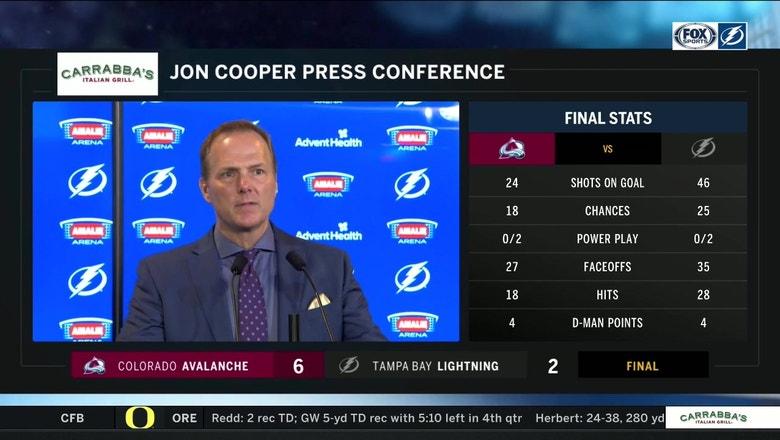 Jon Cooper talks Lightning loss to Avalanche