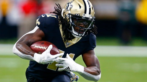 <p>               New Orleans Saints running back Alvin Kamara (41) carries in the first half of an NFL football game against the Tampa Bay Buccaneers in New Orleans, Sunday, Oct. 6, 2019. (AP Photo/Butch Dill)             </p>