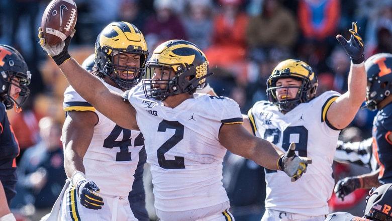 No. 16 Michigan needs late surge to beat Illinois 42-25