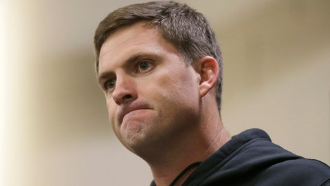 <p>               Cincinnati Bengals head coach Zac Taylor speaks at a news conference after an NFL football game between the Los Angeles Rams and the Bengals, Sunday, Oct. 27, 2019, at Wembley Stadium in London. (AP Photo/Tim Ireland)             </p>