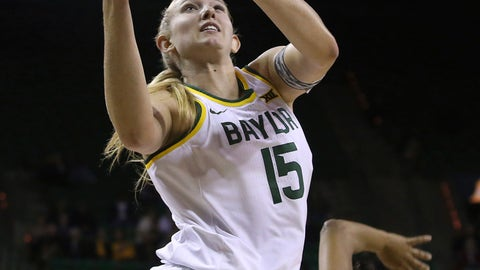 <p>               FILE - In this Oct. 25, 2019 file photo, Baylor's Lauren Cox (15) scores past Langston's Trinity Wisby (24) in the first half of an NCAA college exhibition basketball game, in Waco, Texas. Baylor and coach Kim Mulkey are the overwhelming favorites to win their 10th consecutive Big 12 women's basketball title. The expectations don't change for the Lady Bears in the Big 12 even when their roster does. The Bears are favored after losing Kalani Brown and Chloe Jackson. They still have preseason Big 12 player of the year Cox among nine returning letterwinners, and two graduate transfers.(Jerry Larson/Waco Tribune-Herald via AP, File)             </p>