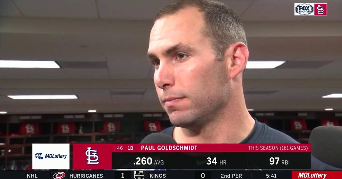 Goldschmidt on getting swept by Nats in NLCS: 'They played better than us'