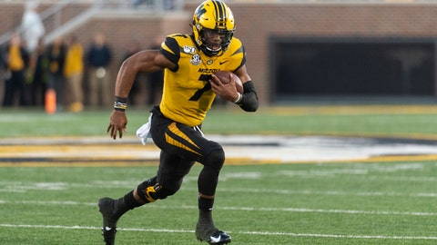 <p>               Missouri quarterback Kelly Bryant runs the ball during the first quarter of an NCAA college football game against Missouri Saturday, Oct. 12, 2019, in Columbia, Mo. (AP Photo/L.G. Patterson)             </p>
