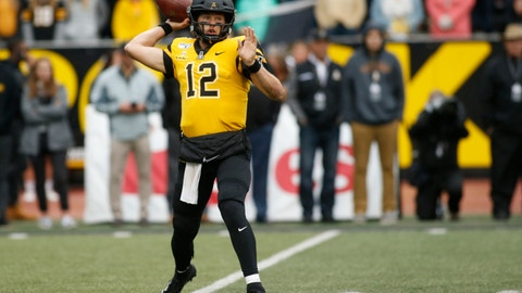 <p>               Appalachian State quarterback Zac Thomas (12) throws to an open receiver during the first half of an NCAA college football game Saturday, Oct. 19, 2019, in Boone, NC. (AP Photo/Brian Blanco)             </p>
