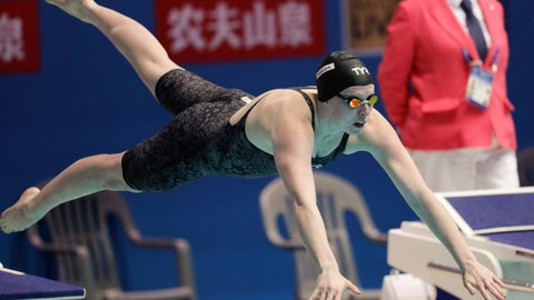 <p>               FILE - In this July 28, 2019, file photo, United States' Lilly King starts in the women's 50m breaststroke final at the World Swimming Championships in Gwangju, South Korea. The International Swimming League debuts this weekend, with some of the sport's biggest names competing for cash prizes in a team format that culminates in a splashy finale in Las Vegas. (AP Photo/Lee Jin-man, File)             </p>