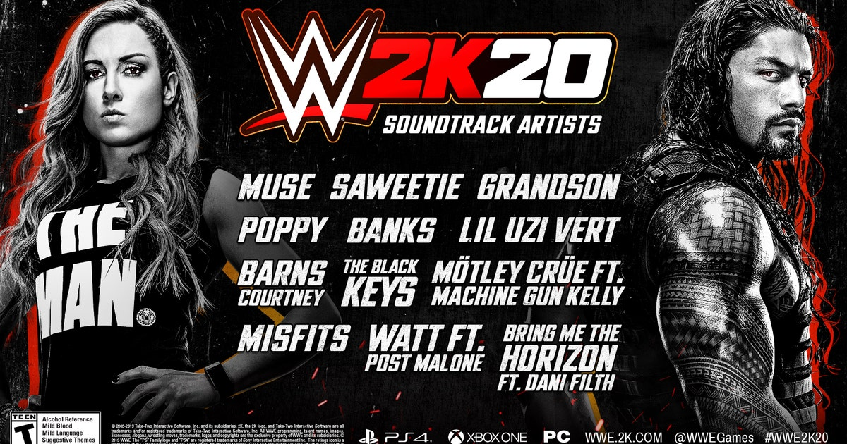 WWE 2K20 soundtrack features Banks, Bring Me The Horizon, Lil Uzi Vert, The Misfits, Poppy and more