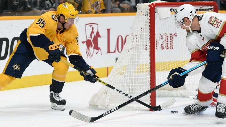 Trocheck's shootout goal gives Panthers 3-2 win over Preds