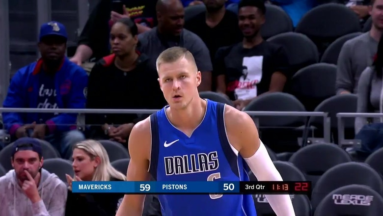 WATCH: First look at Kristaps Porzingis on the Court vs. Pistons