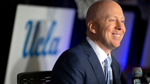 <p>               FILE - In this Tuesday, Oct. 8, 2019, file photo, UCLA coach Mick Cronin speaks during the Pac-12 NCAA college basketball media day in San Francisco. Cronin's task at UCLA is great. Rebuild a tradition-laden program that hasn't been a national powerhouse in recent years while overcoming skeptics. (AP Photo/D. Ross Cameron, File)             </p>