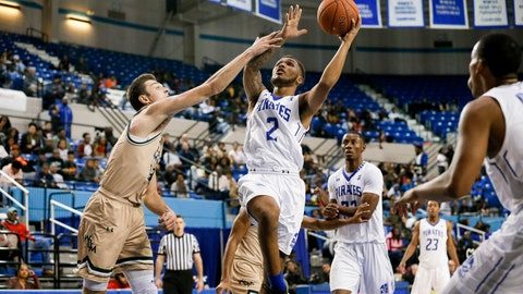 <p>               FILE - In this Dec. 8, 2018, file photo, Hampton's Jermaine Marrow (2) looks for a shot against William & Mary during an NCAA college basketball game in Hampton, Va. Marrow ranked eighth among all Division I players in scoring (24.4) last season and also averaged 4.9 assists, 4.1 rebounds and 1.6 steals. (John Sudbrink/The Daily Press via AP, File)             </p>