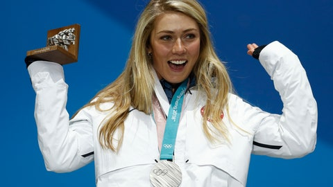 <p>               FILE - In this Feb. 22, 2018 file photo silver medalist in the women's combined Mikaela Shiffrin, of the United States, celebrates during the medals ceremony at the 2018 Winter Olympics in Pyeongchang, South Korea. Shiffrin will be counted on to carry her sport even more with the retirements of such big names as Lindsey Vonn, Marcel Hirscher and Aksel Lund Svindal. That's a lot of pressure for the 24-year-old who's coming off a season in which she recorded a record 17 World Cup wins. (AP Photo/Patrick Semansky, file)             </p>