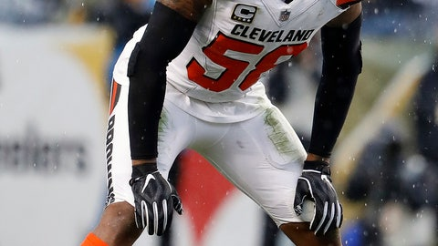 <p>               FILE - In this Oct. 28, 2018, file photo, Cleveland Browns outside linebacker Christian Kirksey is shown during an NFL football game against the Pittsburgh Steelers, in Pittsburgh. The Cleveland Browns could be missing several starters Sunday night when they face the defending NFC champion Los Angeles Rams. Tight end David Njoku (wrist), linebacker Christian Kirksey (chest), right tackle Chris Hubbard (foot) and safeties Damarious Randall (concussion) and Morgan Burnett (leg) missed practice Thursday, Sept. 19, 2019. (AP PhotoWinslow Townson, File)             </p>
