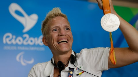 <p>               FILE - In this Sept. 11, 2016, file photo, Belgium's Marieke Vervoort poses for the photo as she holds her silver medal at a press conference during the Rio Paralympic games in Rio de Janeiro, Brazil. Paralympian Vervoort said when the day arrived, she had signed the euthanasia papers and was prepared to end her life. The time came Tuesday, Oct. 22, 2019, in her native Belgium, her death confirmed in a statement from her home city of Diest. (AP Photo/Leo Correa, File)             </p>