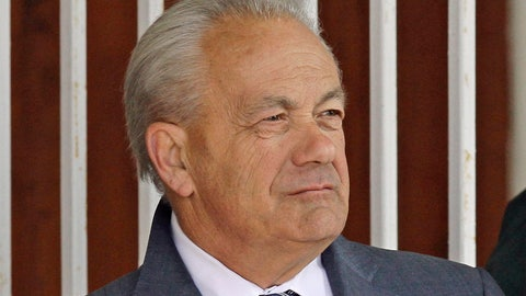 <p>               FILE - In this March 22, 2014, file photo, horse trainer Jerry Hollendorfer stands in the paddock at Turfway Park in Florence, Ky. The Hall of Fame trainer is banned from entering horses in the Breeders' Cup at Santa Anita, where he was barred earlier this year. Fred Hertrich, chairman of the Breeders' Cup board, said Friday, Oct. 18, 2019, that it would honor Santa Anita's house rule and not allow Hollendorfer to enter horses in the event Nov. 1-2. (AP Photo/Garry Jones, File)             </p>